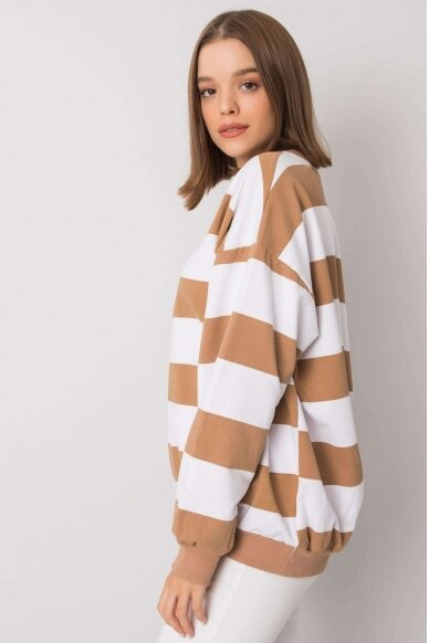 Šviesiai rudas džemperis MOD1159 3