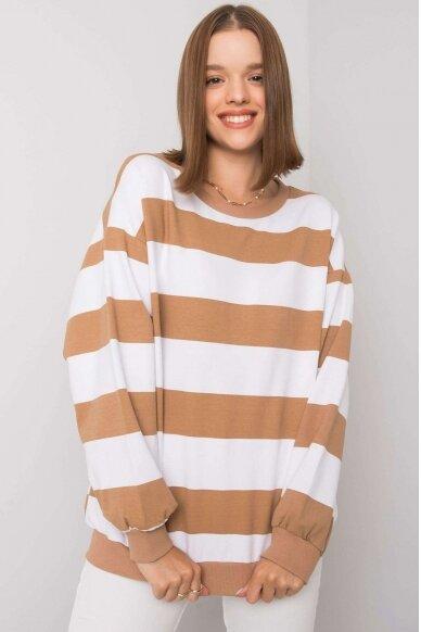 Šviesiai rudas džemperis MOD1159