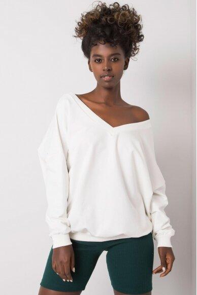 Baltas džemperis MOD1188 2