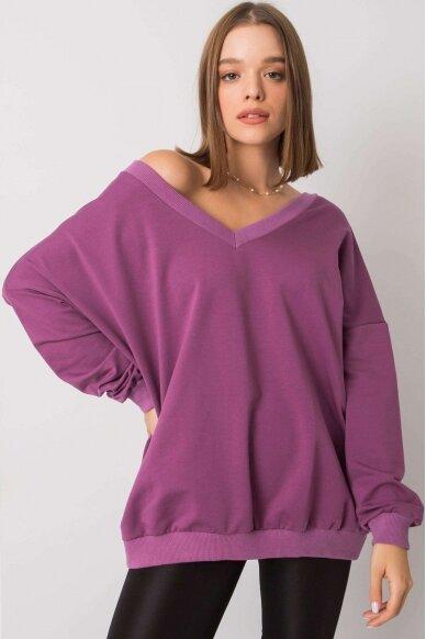 Violetinės spalvos džemperis MOD1188 2