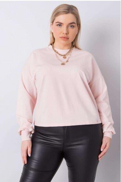 Šviesiai rožinės spalvos marškinėliai MOD888 2