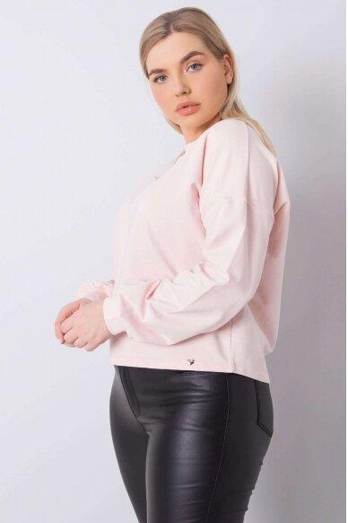 Šviesiai rožinės spalvos marškinėliai MOD888 3