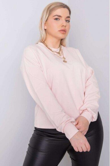 Šviesiai rožinės spalvos marškinėliai MOD888