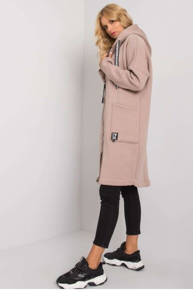 Smėlinės spalvos džemperis MOD1199 2