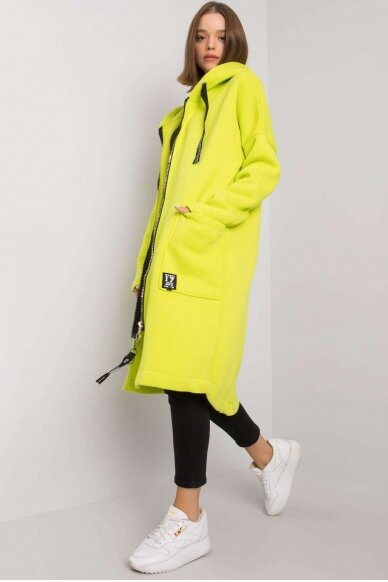 Šviesiai žalias džemperis MOD1199 2