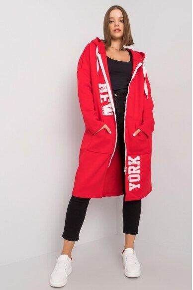 Raudonas džemperis MOD1207