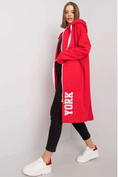 Raudonas džemperis MOD1207 3