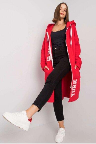 Raudonas džemperis MOD1207 2