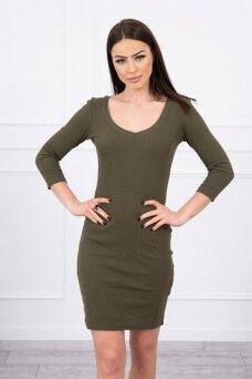 Chaki spalvos suknelė MOD060