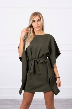 Chaki spalvos suknelė MOD497