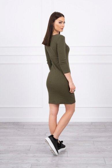 Chaki spalvos suknelė MOD060 2
