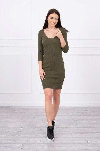 Chaki spalvos suknelė MOD060 3