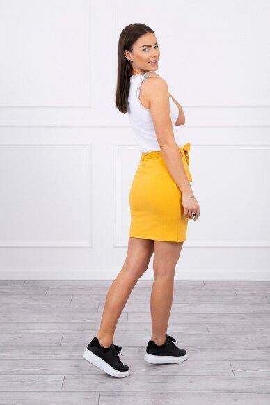 Garstyčių spalvos sijonas MOD268 2