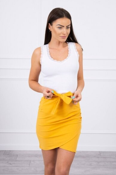 Garstyčių spalvos sijonas MOD268 3