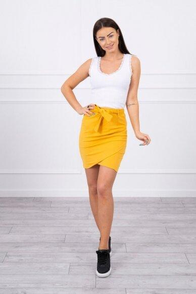 Garstyčių spalvos sijonas MOD268