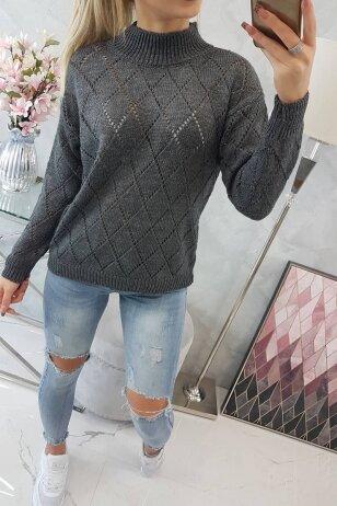 Grafito spalvos megztinis MOD784