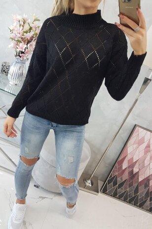 Juodas megztinis MOD784