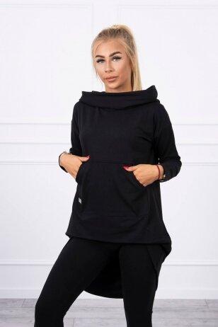Juodos spalvos marškinėliai MOD755
