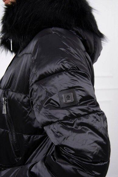 Juoda žieminė striukė MOD776 5