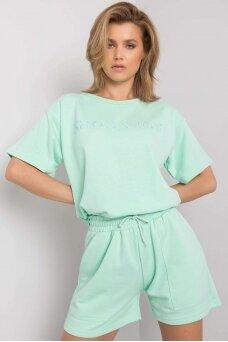 Mėtinės spalvos moteriškas kostiumėlis MOD1085
