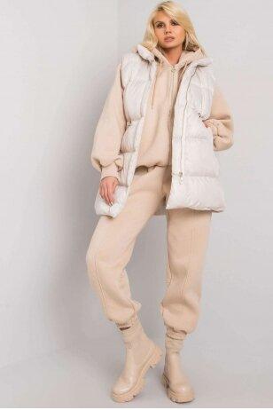 Smėlinės spalvos moteriškas kostiumėlis MOD1442