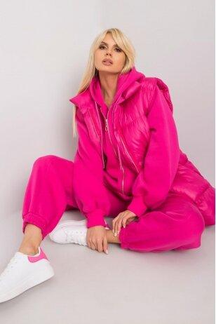 Rožinės spalvos moteriškas kostiumėlis MOD1442