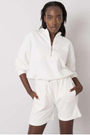Nebalintos drobės spalvos moteriškas kostiumėlis MOD1086