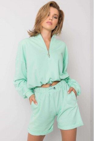Mėtinės spalvos moteriškas kostiumėlis MOD1086