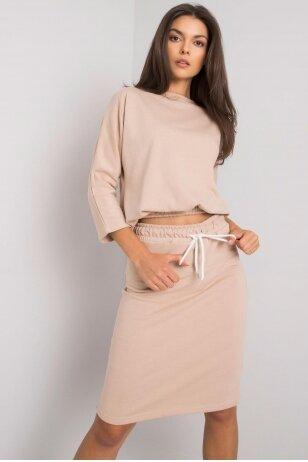 Smėlinės spalvos moteriškas kostiumėlis MOD1358