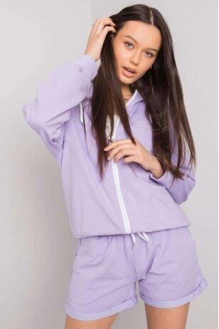Violetinės spalvos moteriškas kostiumėlis MOD1014