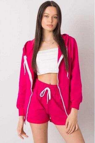 Rožinės spalvos moteriškas kostiumėlis MOD1014