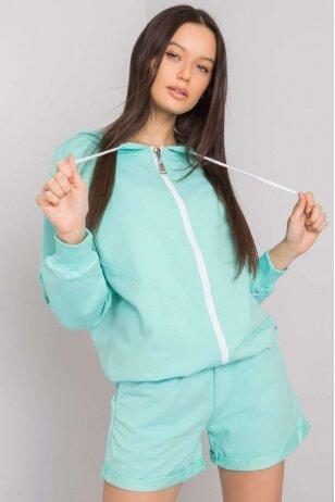 Mėtinės spalvos moteriškas kostiumėlis MOD1014