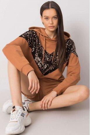 Šviesiai rudas moteriškas kostiumėlis MOD999