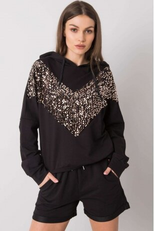 Juodas moteriškas kostiumėlis MOD999