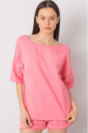 Rožinės spalvos moteriškas kostiumėlis MOD995