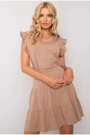 Smėlinės spalvos moteriškas kostiumėlis MOD1146