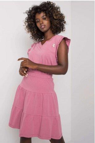 Tamsiai rožinės spalvos moteriškas kostiumėlis MOD1146