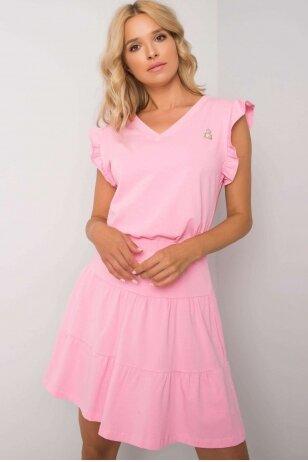 Šviesiai rožinis moteriškas kostiumėlis MOD1146