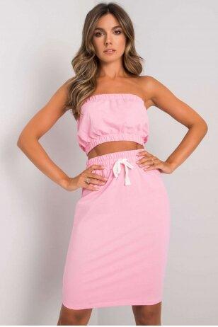 Šviesiai rožinis moteriškas kostiumėlis MOD1138