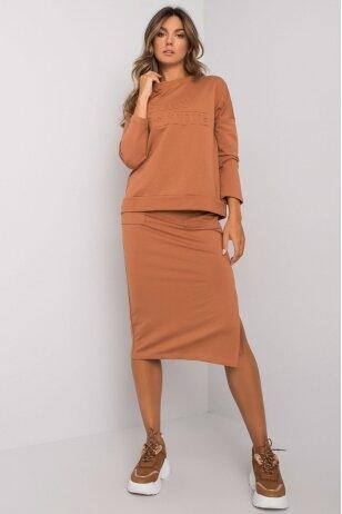 Šviesiai rudas moteriškas kostiumėlis MOD1135