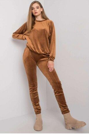 Šviesiai rudas veliūrinis kostiumėlis MOD1446