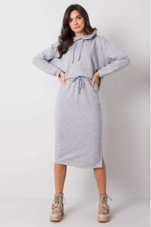 Pilkos spalvos moteriškas kostiumėlis MOD841