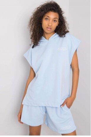 Žydros spalvos moteriškas kostiumėlis MOD1026