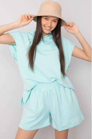 Mėtinės spalvos moteriškas kostiumėlis MOD1026