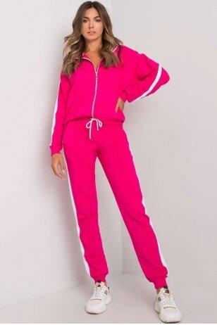Rožinės spalvos sportinis kostiumas MOD1201
