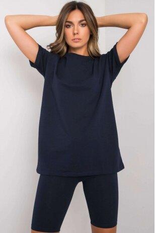 Tamsiai mėlynas moteriškas kostiumėlis MOD1184