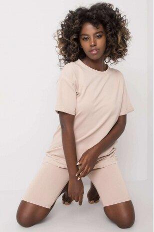 Šviesiai smėlinės spalvos moteriškas kostiumėlis MOD1184