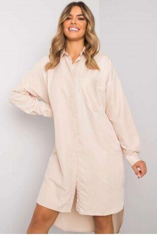 Smėlinės spalvos marškiniai MOD1342