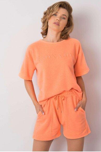 Oranžinės spalvos moteriškas kostiumėlis MOD1085 2