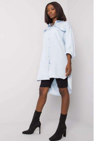 Šviesiai mėlyni marškiniai MOD1334 2
